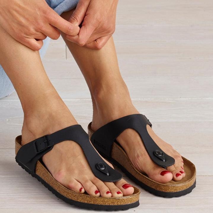 Brand New! Birkenstock Gizeh Adjustable Strap Leather Thong