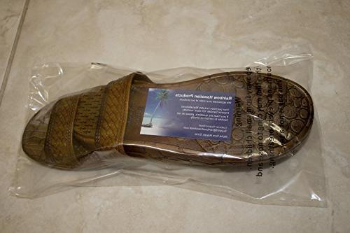 Brown Double Style Hawaii Sandals. Unisex Sandal and Teens