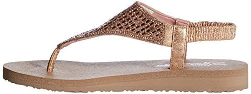 Skechers Cali Meditation-Rock Crown Sandal,rose M
