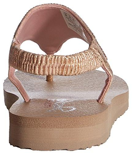 Skechers Cali Women's Crown Sandal,rose gold,11 M US