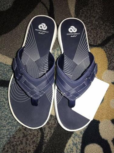 cloudsteppers breeze sea womens thong sandals navy