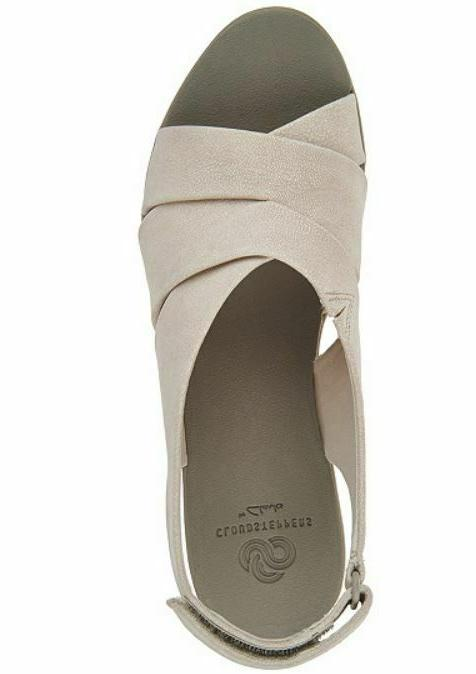 CLOUDSTEPPERS by Clarks Wedge Sandals Caddell White
