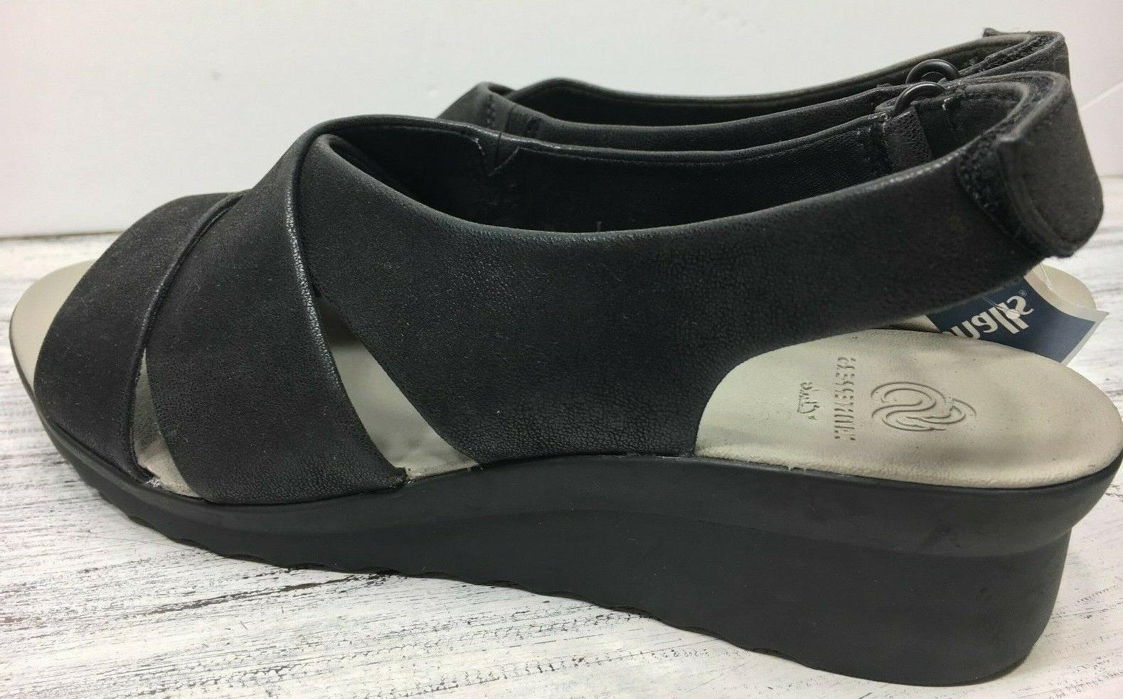 CloudSteppers Sz 39.5 W Black Leather