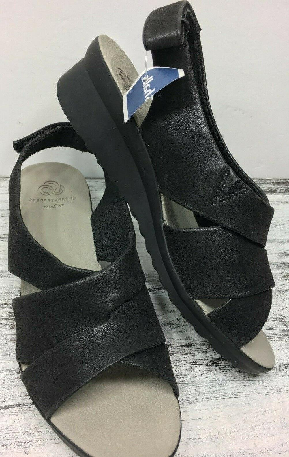 CloudSteppers Clarks Sz 39.5 / W Leather Sandal Comfort