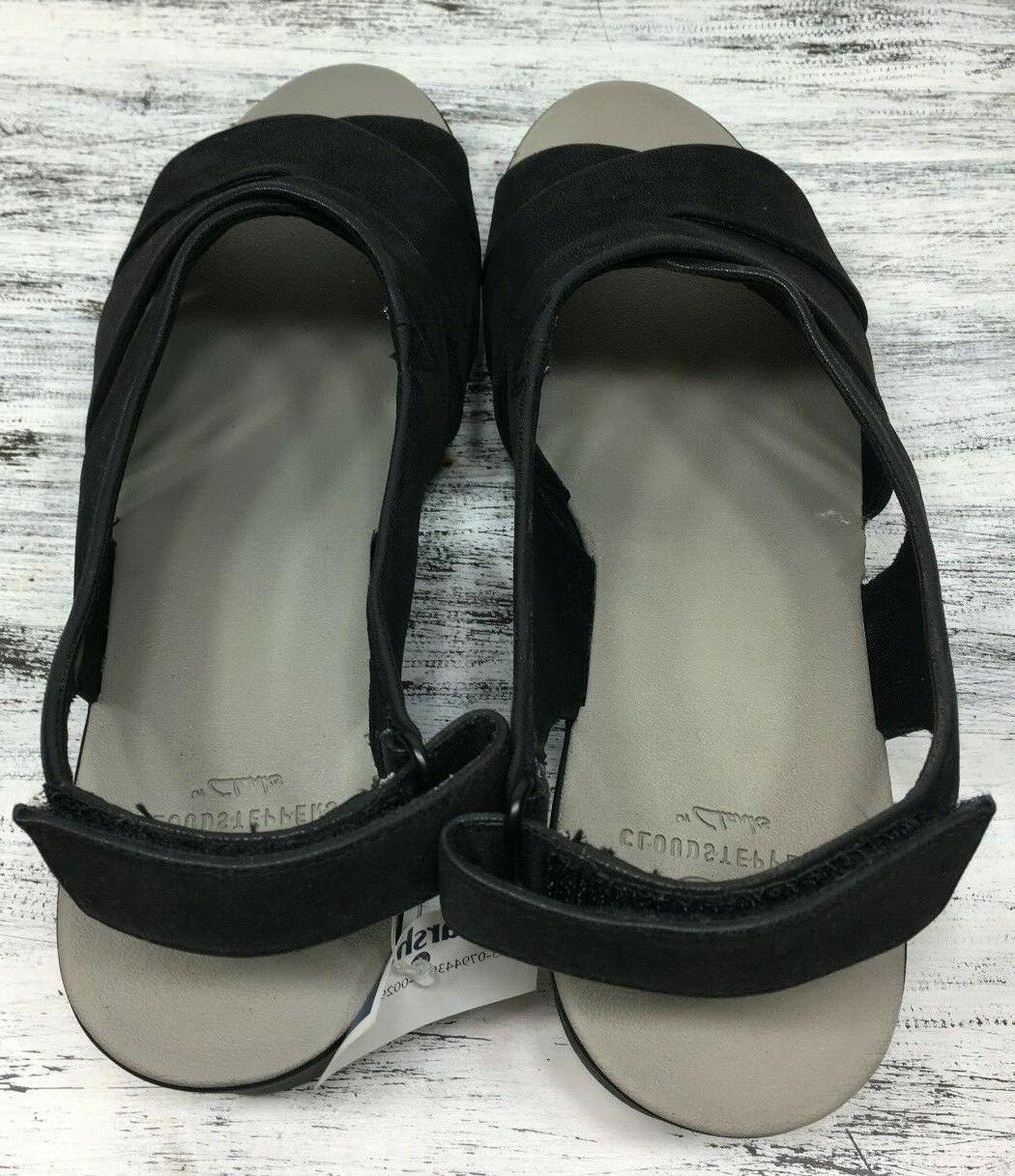 CloudSteppers Sz 8.5 W Black Leather Comfort