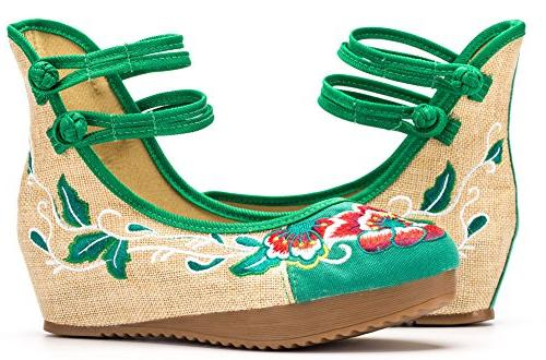 AvaCostume Floral Wedges