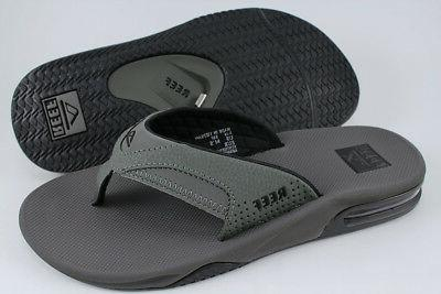 fanning gray black flip flops thong sandals