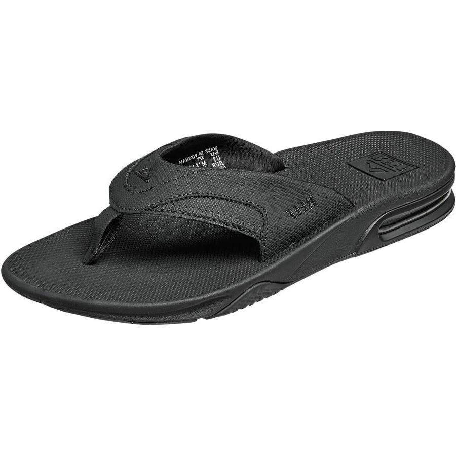 fanning men s sandals all black bottle