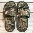 Under Armour Girls UA Camo Realtree Mossy Oak Pink Sandals Y