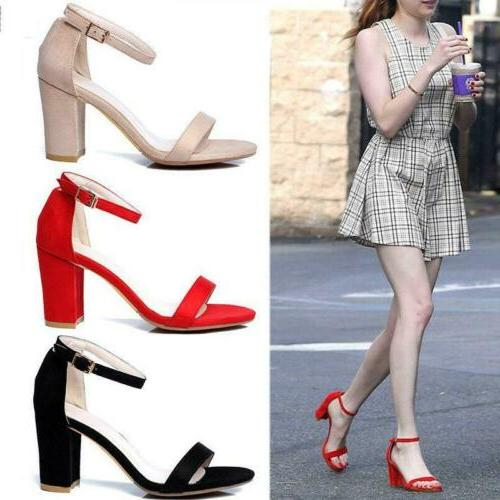 hot women s color ankle strap high