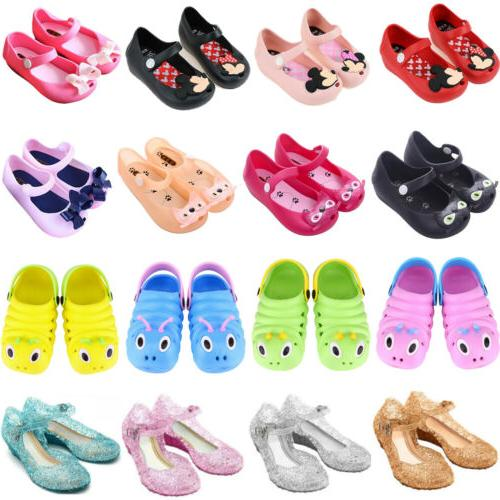 kids baby girls princess jelly shoes party