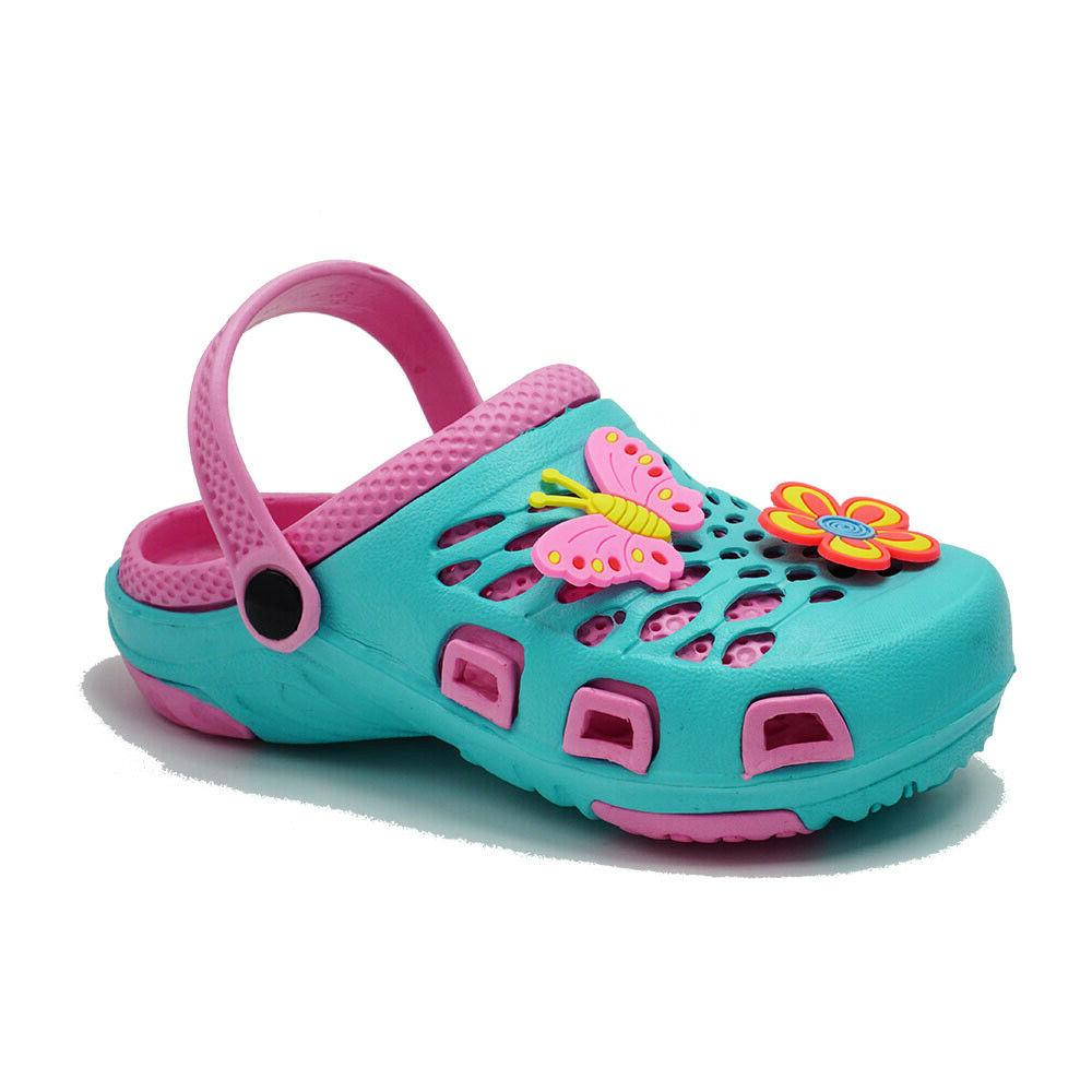 Kids Girls Cute Clogs Slip On Slippers Shoes