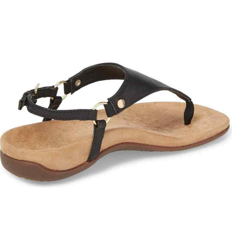 VIONIC Kirra Orthaheel® Leather Ankle Sandals Size 6.5