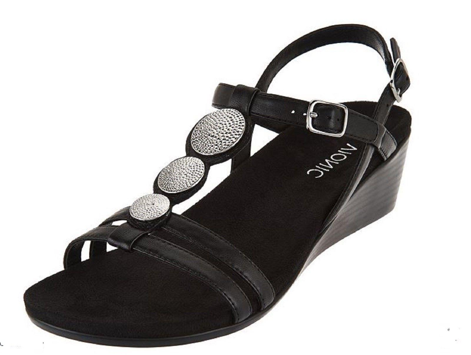 Vionic Orthaheel Ladies PARK NOLEEN Backstrap Wedge Sandals