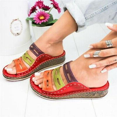 Ladies Wedg Slip Mules Sandals 4.5-11