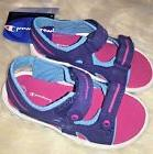 Champion Little Girls Sandals shoes Double Strap Blue Pink Y