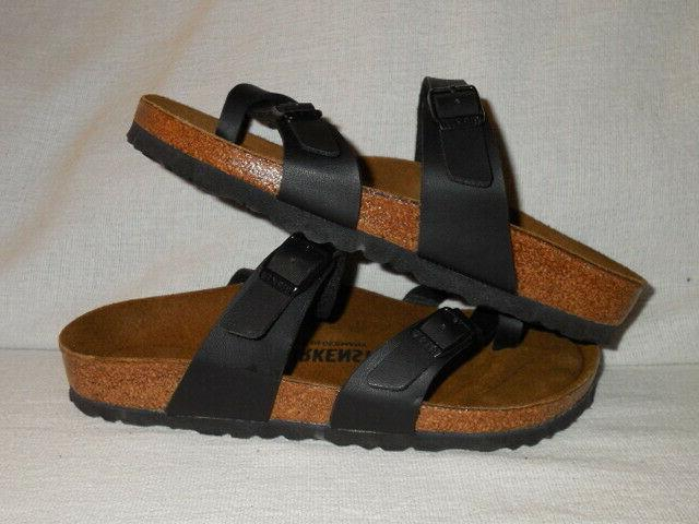 mayari black birkoflor womens sandals eur size