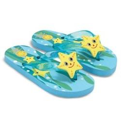 Melissa and Doug Sunny Patch Cinco Starfish Flip-Flops Size: