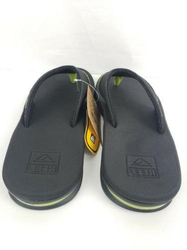 Reef Bottle Opening Flip Sandals Black Size 11