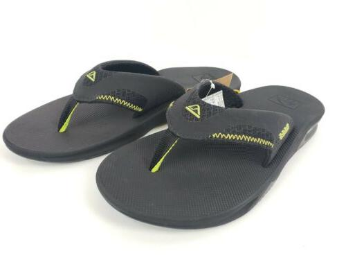 Reef Men's Mesh Bottle Opening Flip Sandals Black Size 11