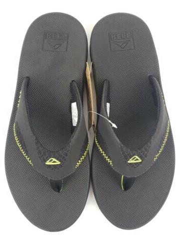Reef Fanning Bottle Flop Sandals Black Green 11