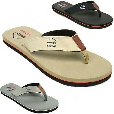 1d71f6932ea Alpine Swiss Men s Flip Flops Beach Sandals Lightweight