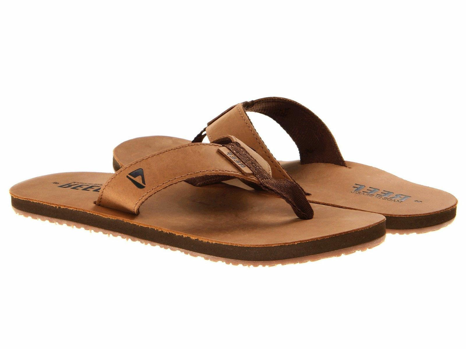 Reef Men's leather Sandals Smoothy Bronze/Brown Classic RF00