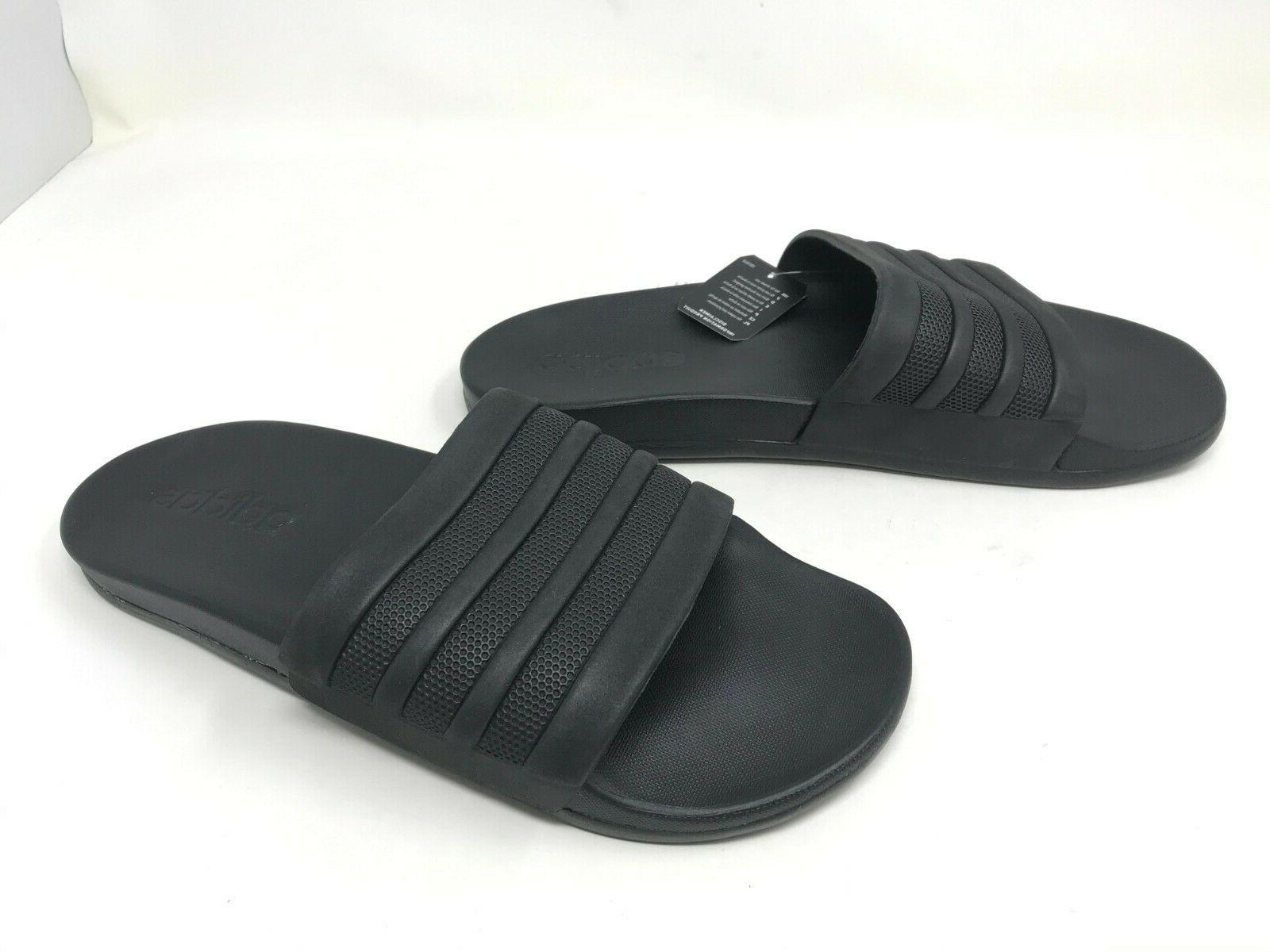 mens s82137 adilette comfort black slides sandals