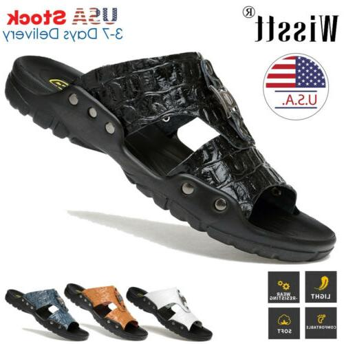 new beach mens massage casual leather sandals