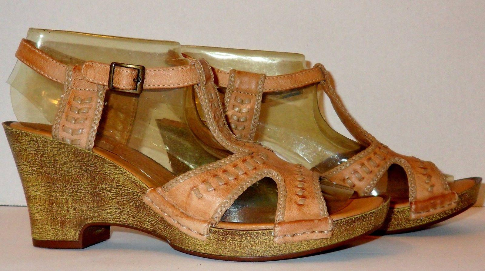 new bendables leather wedge sandals size 8