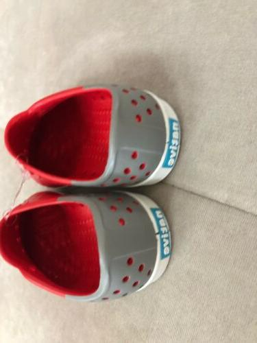 New Boys Shoes Size 7 Red Rubber Clogs Waterproof