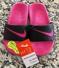 New! Nike Girls Kawa Black & Pink Slide Sandals  Size 11C