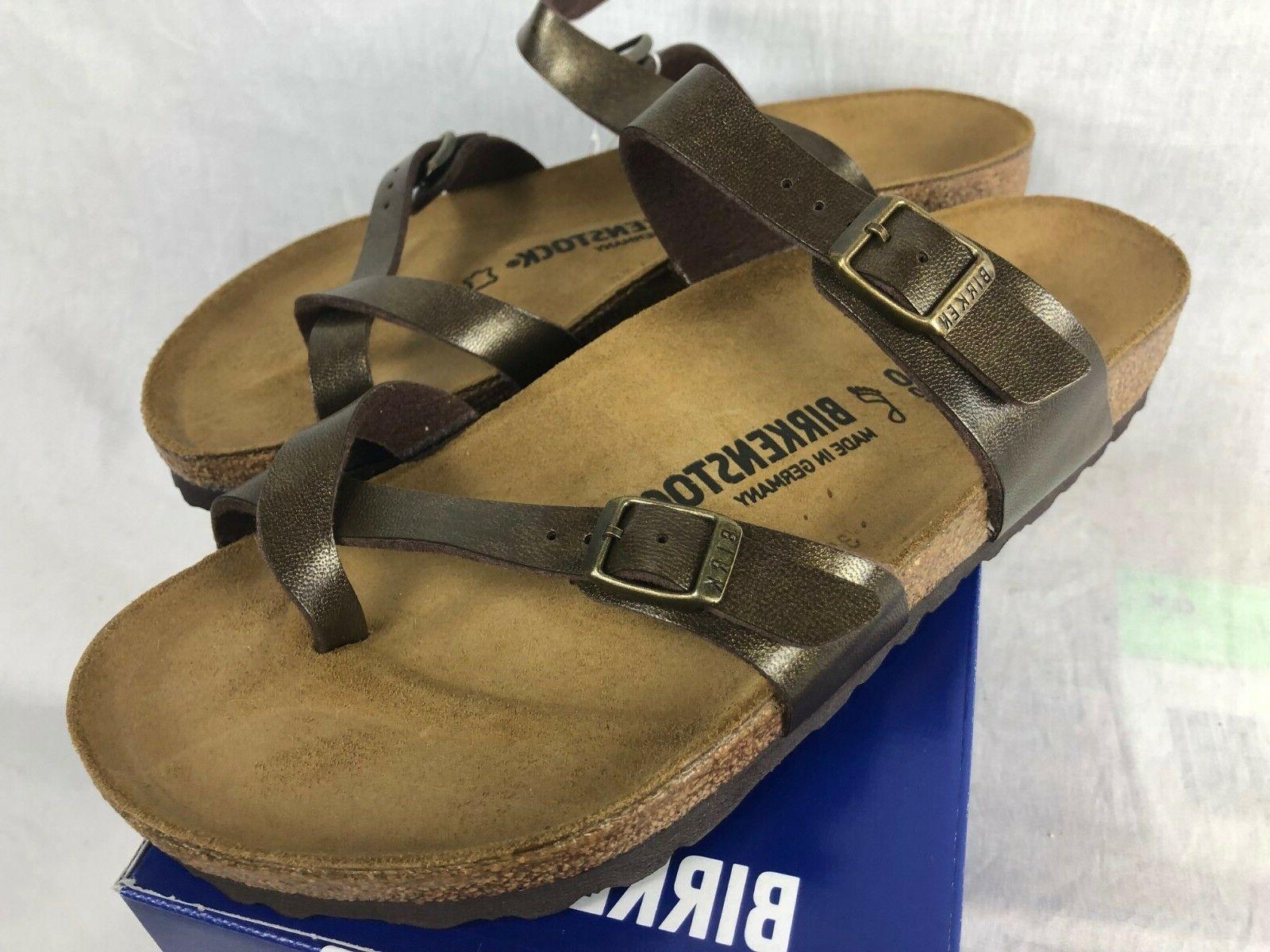 NEW BIRKENSTOCK MAYARI GOLDEN BROWN WOMENS SANDALS BIRKO FLO