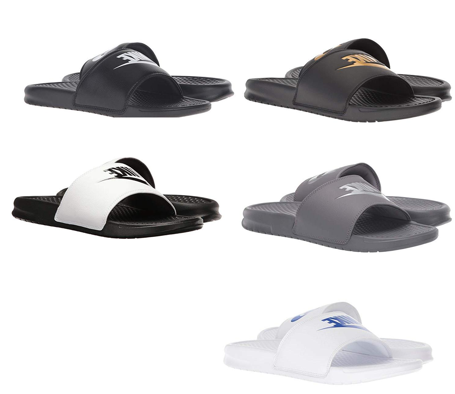 new mens benassi jdi slippers slide sandals