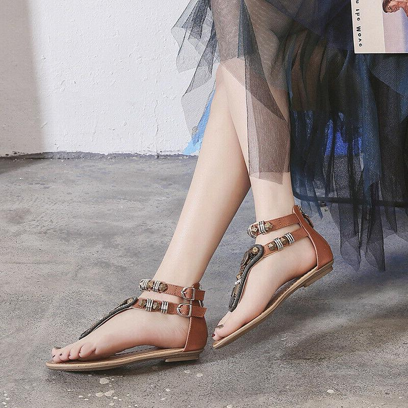 Shoes Flat T Strappy Toe