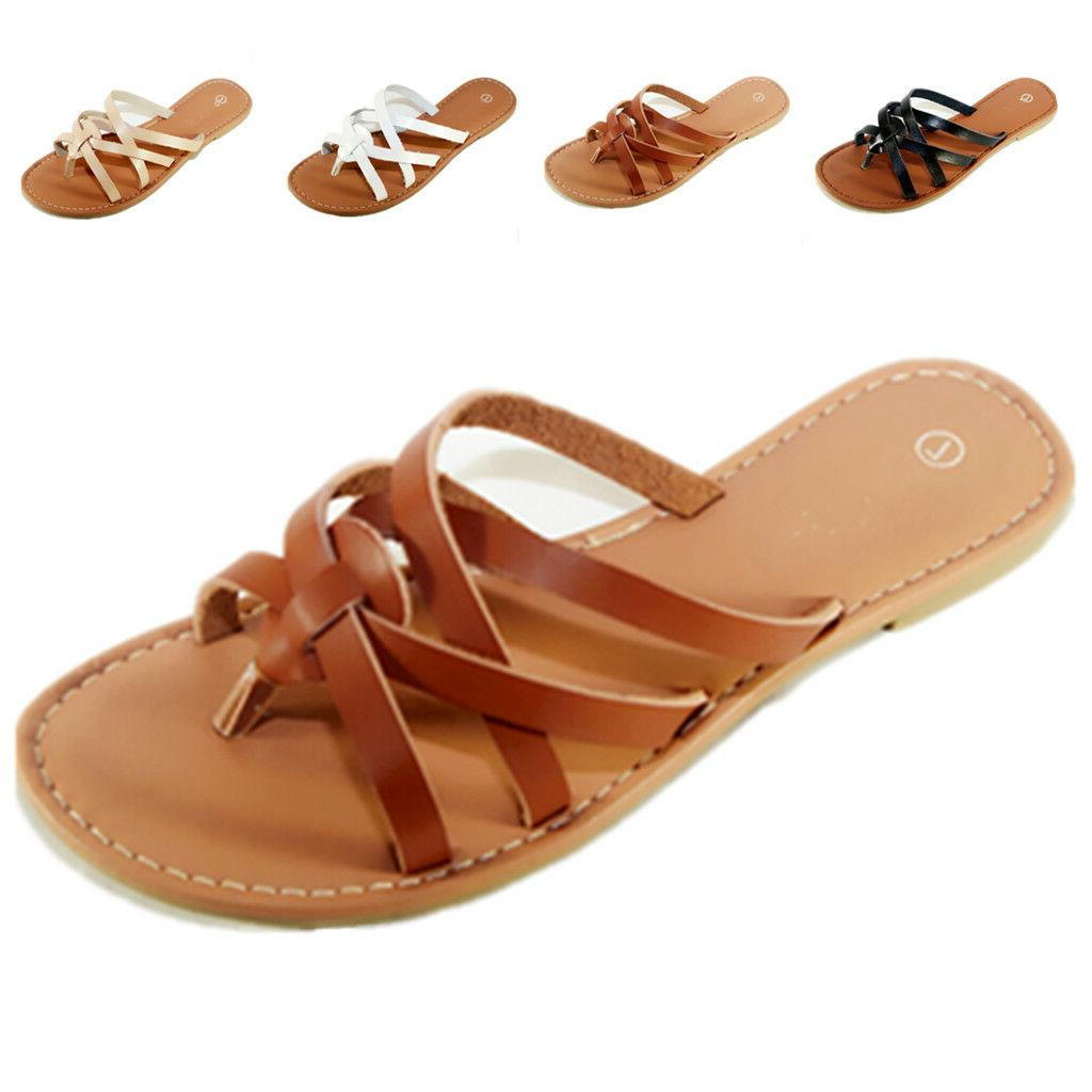 New Women Shoes Flops Flat Size Slipper