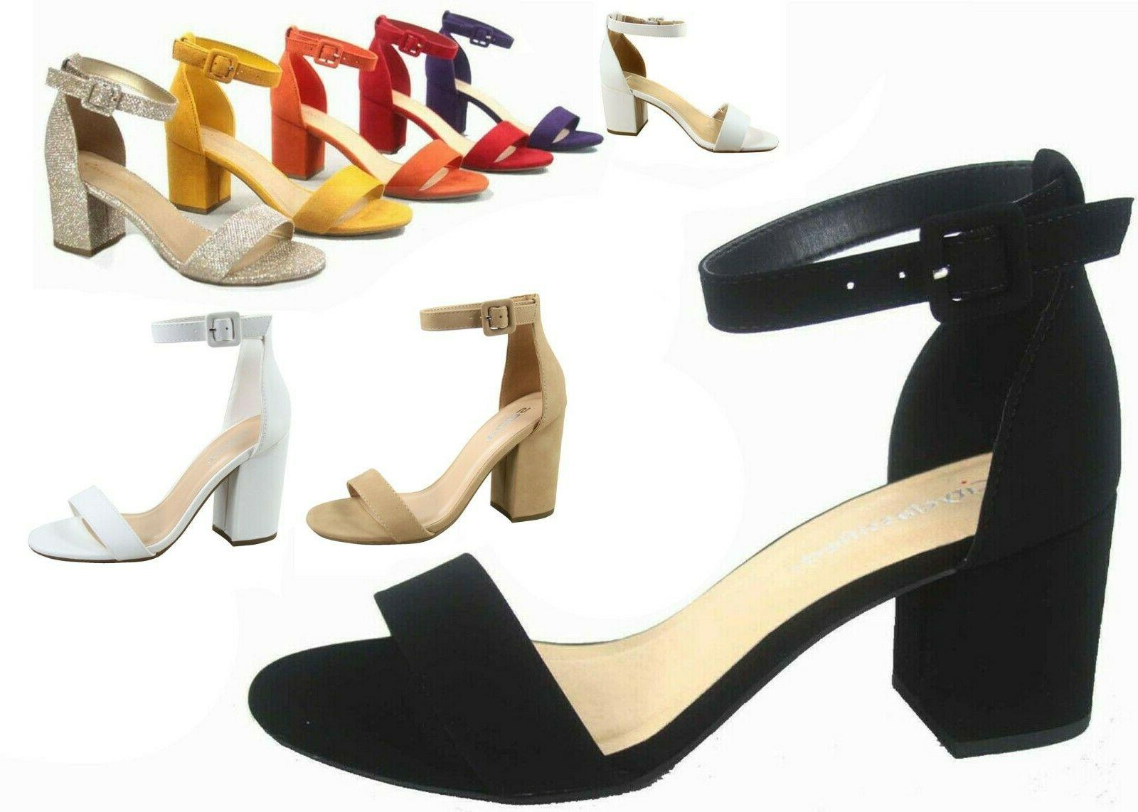 new women s color ankle strap chunky