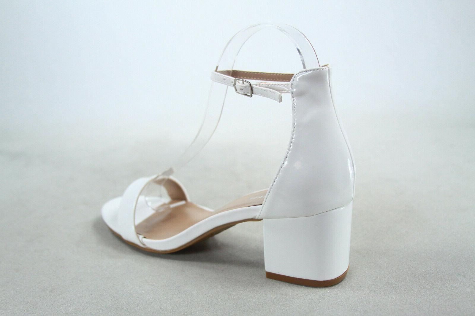 NEW Open Ankle Strap Chunky Heel Size 5 10