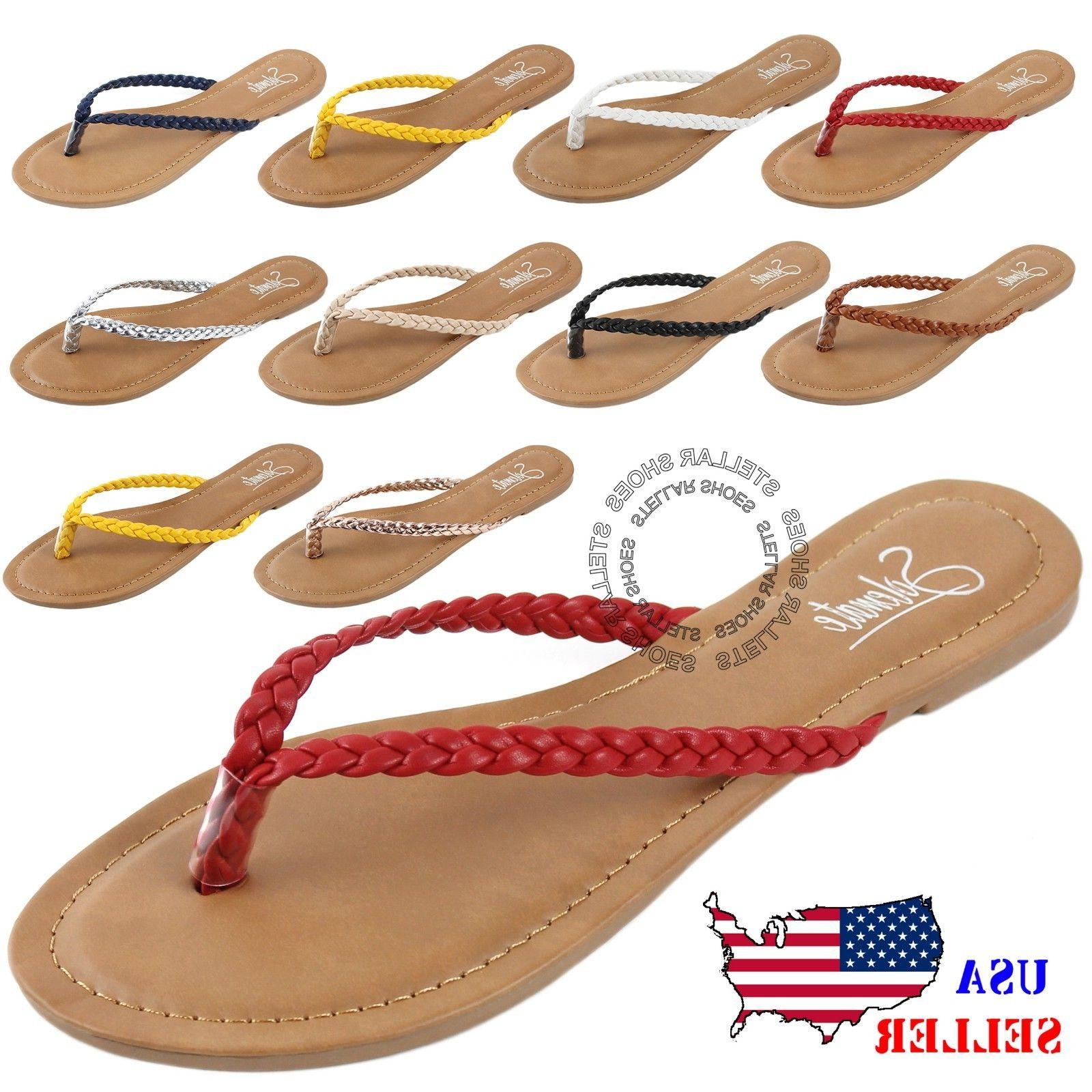 new womens summer comfort casual thong flat