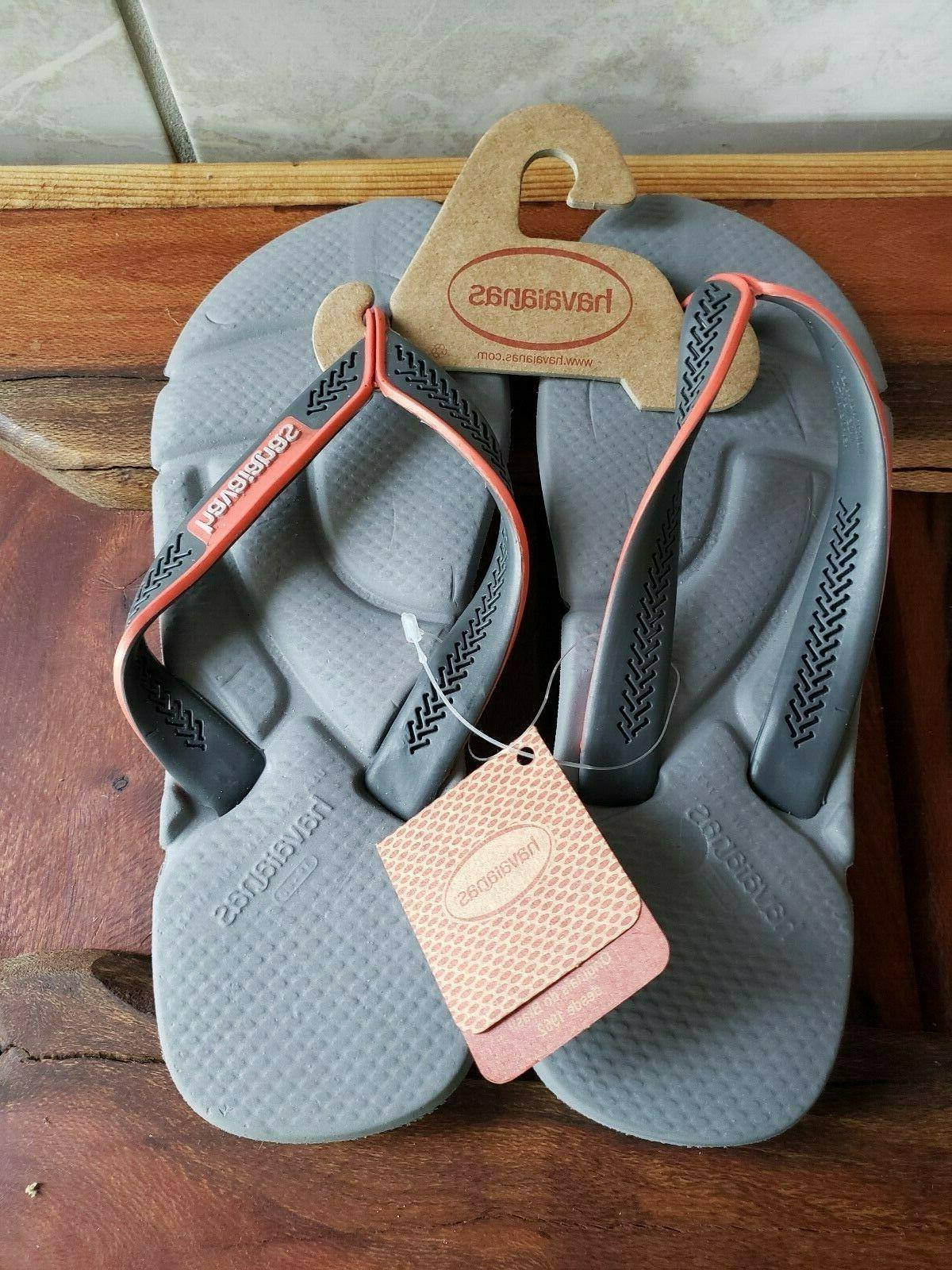 NWT-Havaianas -Men's Power Flop Comfort Footbed- Gray - Size