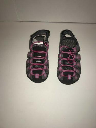 outdoor sandals kids girls pink and black