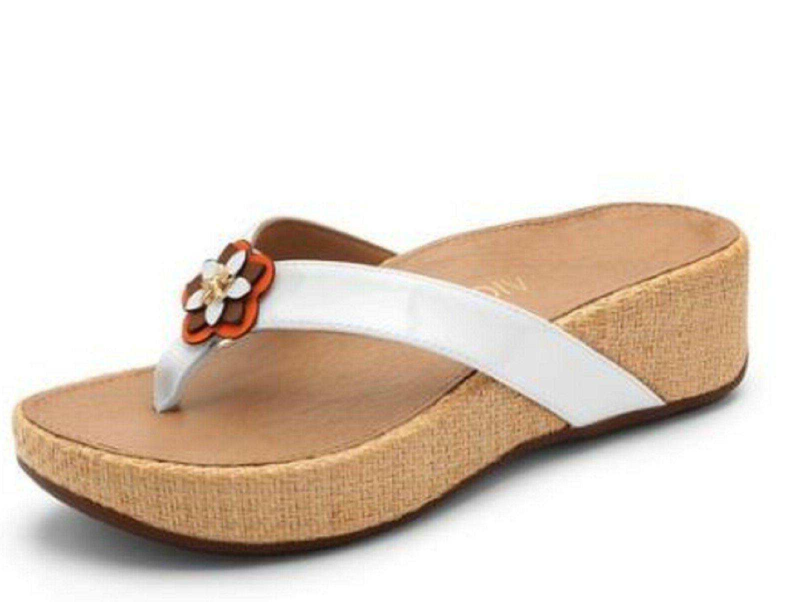Vionic PACIFIC Embellished Thong Sandals WHITE M