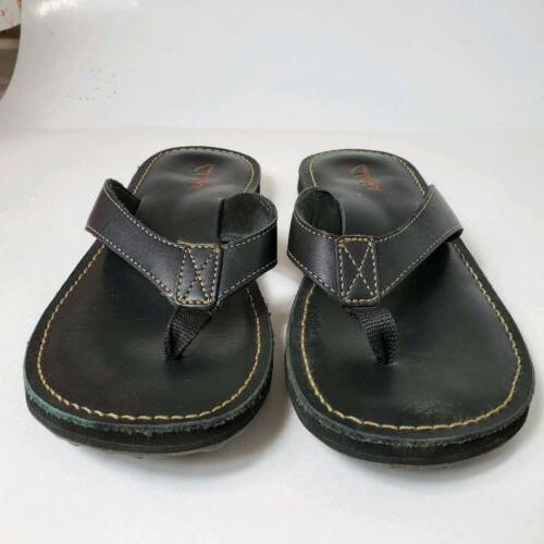 CLARKS BLACK LEATHER WOMENS M