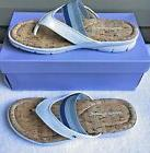Easy Spirit Sandals SZ 6 Medium NiceDay White Blue Thong Fli