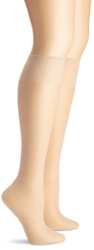 2-Pair Hanes Silk Reflections Silky Sheer Knee Highs 2-Pack