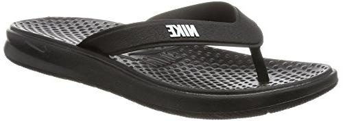 solay thong athletic sandals black