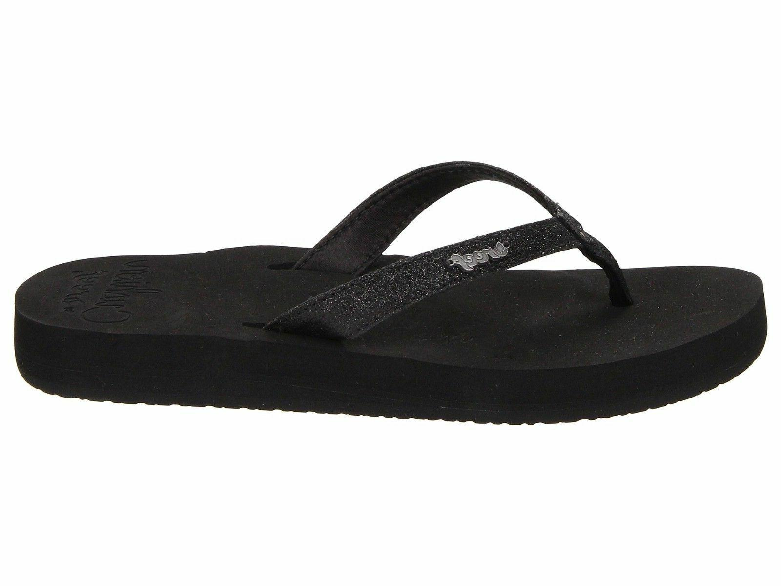Reef Star Cushion Black Women's Casual Flip Flop Sandals RF0
