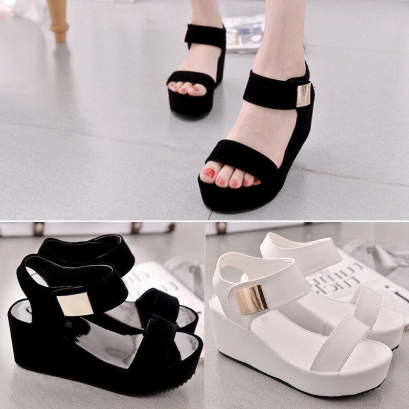 Summer Wedge Sandals Sandals Chunky Shoes