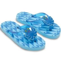 Melissa and Doug Sunny Patch Flex Octopus Flip-Flops Size: 1