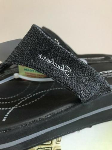 Skechers Thong Sandals Womens 7 NEW Black